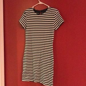French Connection Short Sleeve Dress Striped